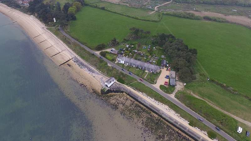 Coastguard cottages from the air